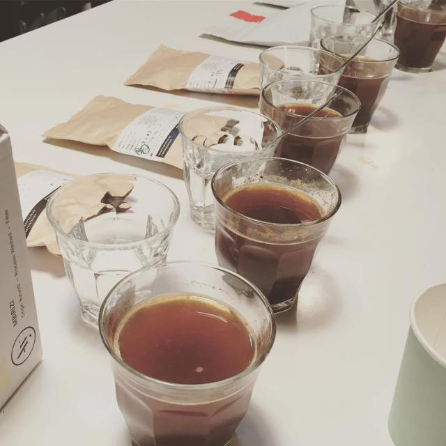 Late night cupping of ancoatscoffeeco and hasbean while back inhellip