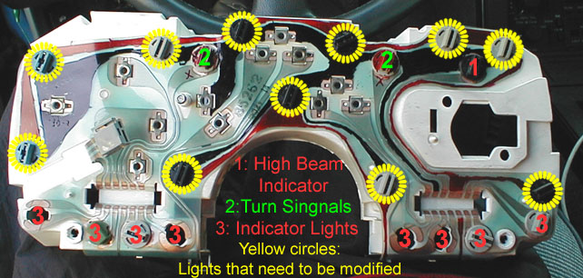Third Generation GM F-Body LED Dash Back-Lighting