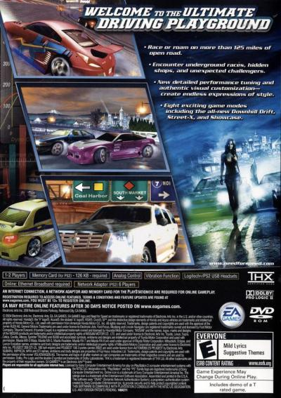Need for Speed Underground 2 Sony Playstation 2 Game