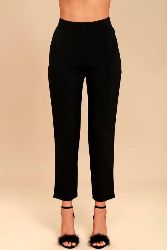Chic Black Pants - Trouser Pants - Dress Pants