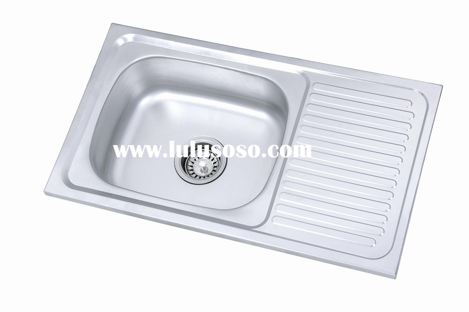 Stainless Steel Kitchen Sink With Drain Board Stainless