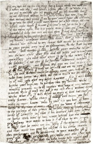 Elizabeth's letter to Mary