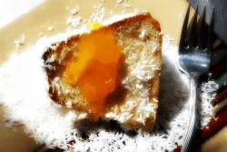 Piquant Lunagrown Mango Jam On Coconut Pound Cake Lunagrown Versatile Mango Jam Sour Cream Coconut Pound Cake Coconut Flour Wildflower Honey Coconut Pound Cake