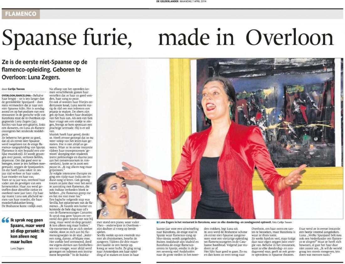 Luna @ dutch newspaper 7-4-2014