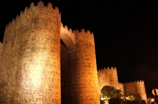 murallas_Avila_noche