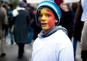 A bruxelles si va' alle manifestazioni con i bambini