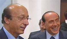 Luciano Moggi e Silvio Berlusconi