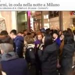 Coda da H&M Milano