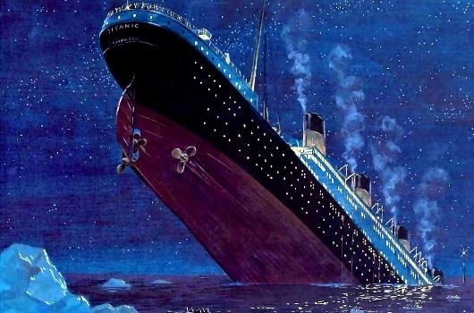 Il Titanic affondò nella notte tra il 14 ed il 15 aprile 1912 nel bel mezzo dell'Oceano Atlantico