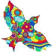 colomba della pace colorata