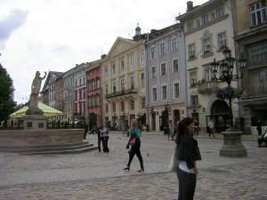 Piazza Rynok a Leopol