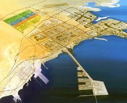 La città industriale Al Jubayl vista dall'alto