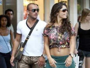 Wesley Sneider and his wife Yolanthe Cabau van Kasbergen