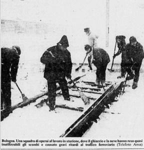 stazione di Bologna nevicata del 10 gennaio 1985