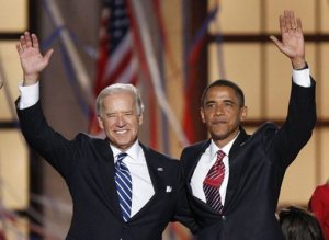 Obama Biden il team democratico.
