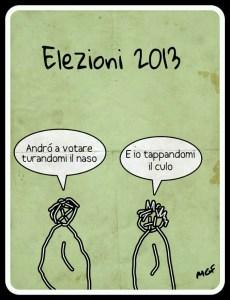 votare turandosi il naso