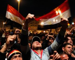 Manifestante con cappellino da Baseball Egitto