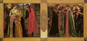 """""""Il saluto di Beatrice"""" di Dante Gabriel Rossetti (1859)"""