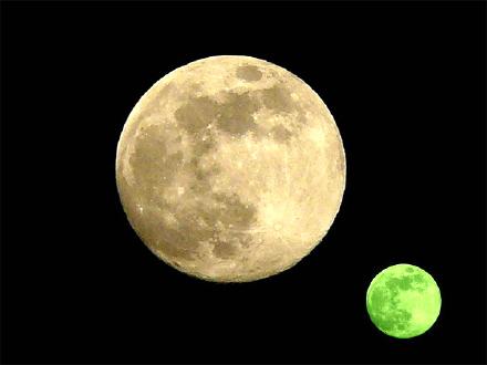 "Le due lune, protagoniste di ""1Q84"""