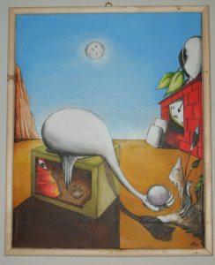 Gli anni del rimpianto-olio su tela di Antonio-Peluso