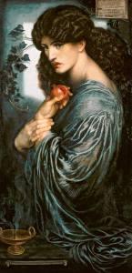 """Persefone"", Dante Gabriel Rossetti, olio su tela, Tate Britain, Londra"