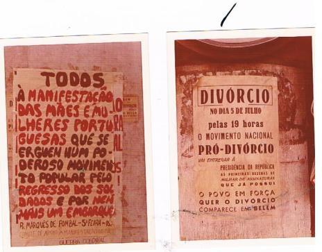 Manifesti in Portogallo nel luglio '74 [foto: Giorgio Giovagnoli]