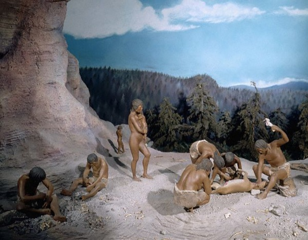 Diorama of Prehistoric Hunter-Gatherers