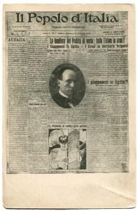 Il primo numero del Popolo d'Italia. 15 novembre 1914.
