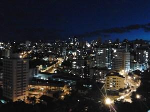 La città di notte.
