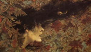Raffica di vento di Lucien Lévy Dhurmer (1865-1953).