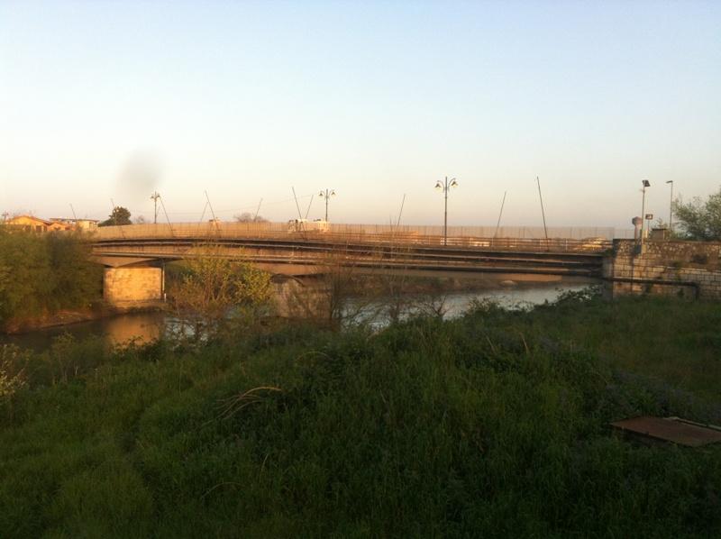 Un tratto del fiume Volturno.