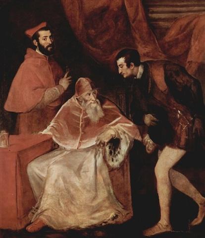 Paolo III e i nipoti Alessandro e Ottavio Farnese, Museo nazionale di Capodimonte, Napoli.