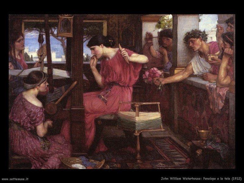 John William Waterhouse Penelope e la tela 1912.