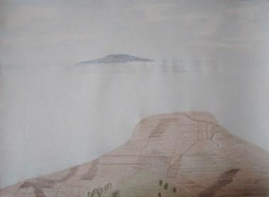 L'Isola Volante, El Hierro visto da Alto de Garajonay