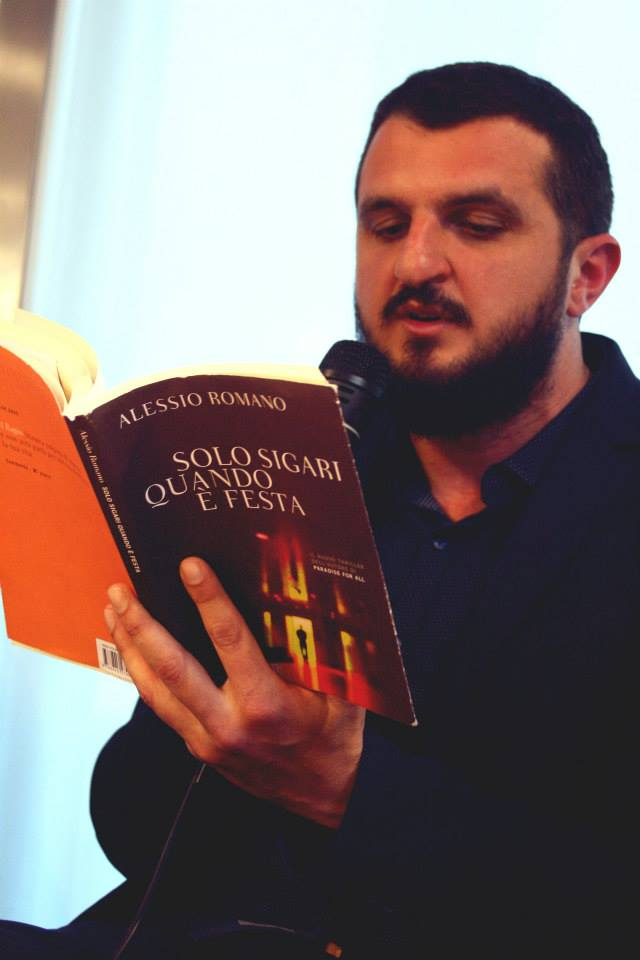 Alessio e il suo ultimo romanzo.