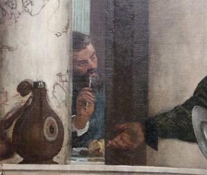 Convito in casa di Levi, L'uomo che si pulisce i denti-1