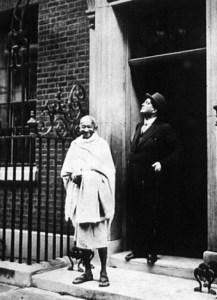 Il Mahatma Gandhi a Londra