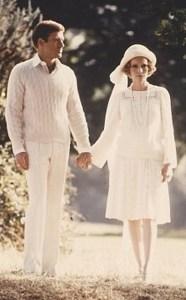 """Robert Reford e Mia Farrow in """"The great Gatsby"""" del 1974"""