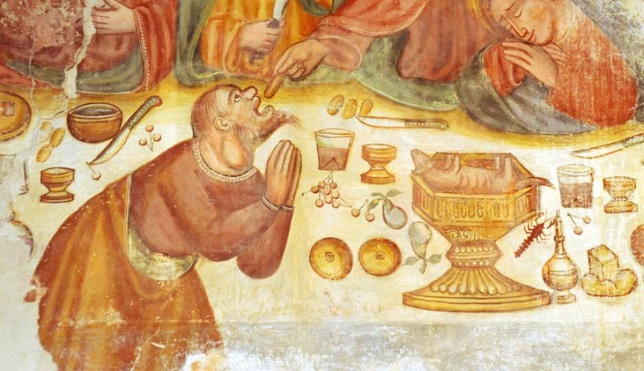 Giuda col gozzo, Chiesa di San Martino, Ditto di Cugnasco, Canton Ticino