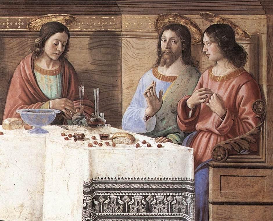 Domenico Ghirlandaio, Particolare del Cenacolo di Ognissanti, Firenze