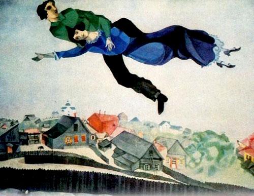 """Marc Chagall - """"Flight"""""""