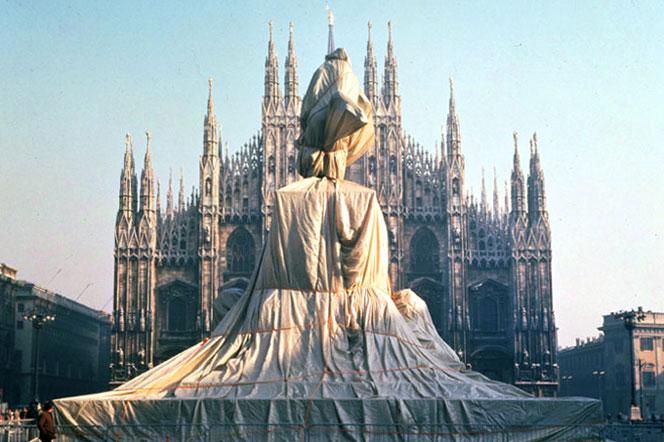 Monumento Equestre di Vittori Emanuele II - Piazza Duomo Milano - 1970