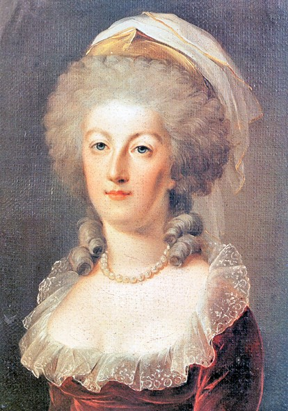 "Maria Antonietta con acconciatura ""à l'enfant"""