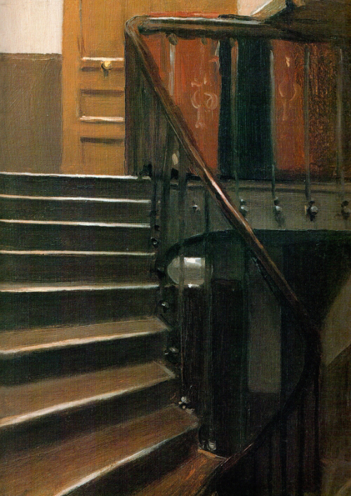 Stairway at 48 rue de lille Edward Hopper 1906