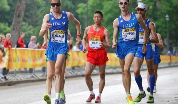 Campionati mondiali di marcia a squadre. Roma, 8 maggio 2016. Schwarzer primo.