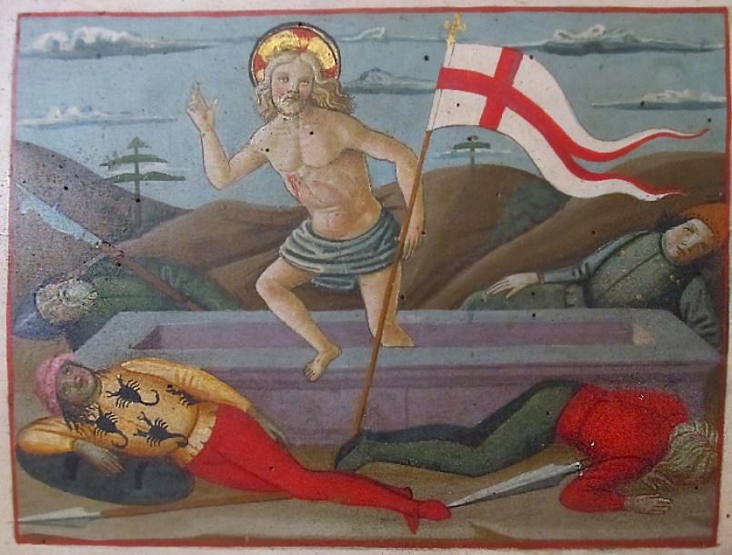 Francesco Fiorentino, particolare di Madonna e Santi, Chiesa di Sant'Agostino, S.Giminiano