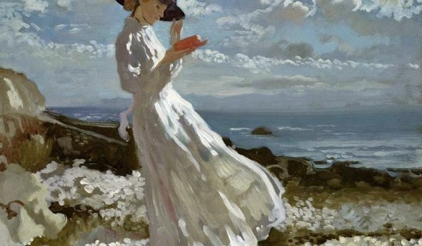 Sir-William-Orpen-R.A.-R.H.A.-Grace-reading-at-Howth-Bay