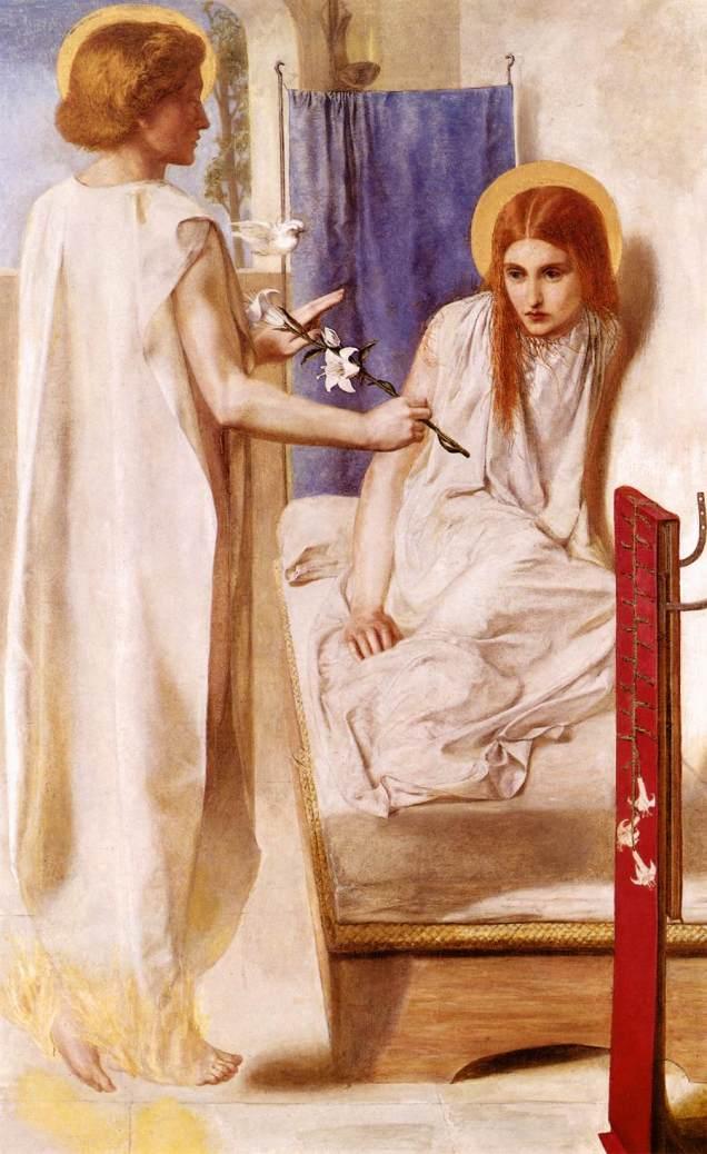 Ecce ancilla domini, modella Christina Rossetti