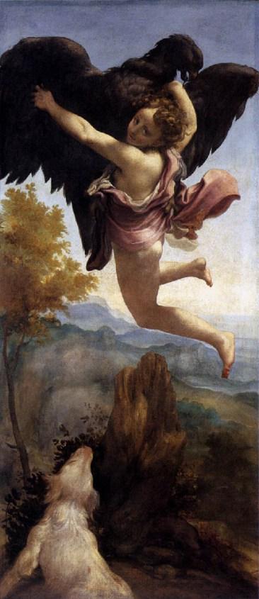 Correggio, Ratto di Ganimede,  Kunsthistorisches Museum, Vienna