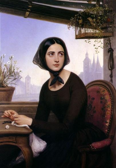 La donna angelo, Illustrazione de I misteri di Parigi, Rouen Musée des Beaux-Arts